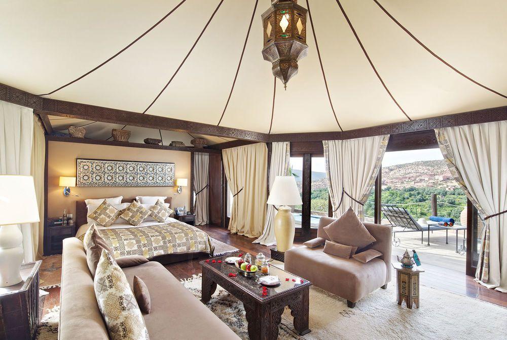 Berber Tent Interior, Kasbah Tamadot