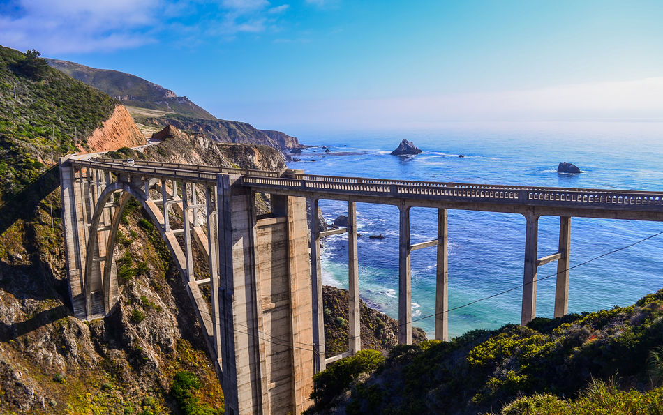 Bixby Bridge in Big Sur, California Pacific Coast Highway in the USA