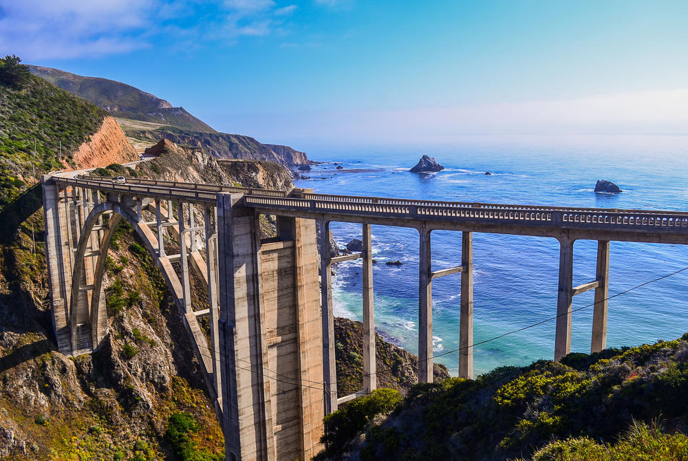 Bixby Bridge across the Pacific Coast Highway California