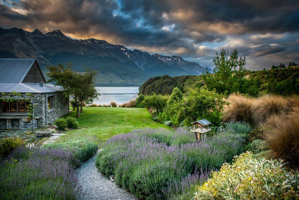 Blanket Bay sunset, New Zealand