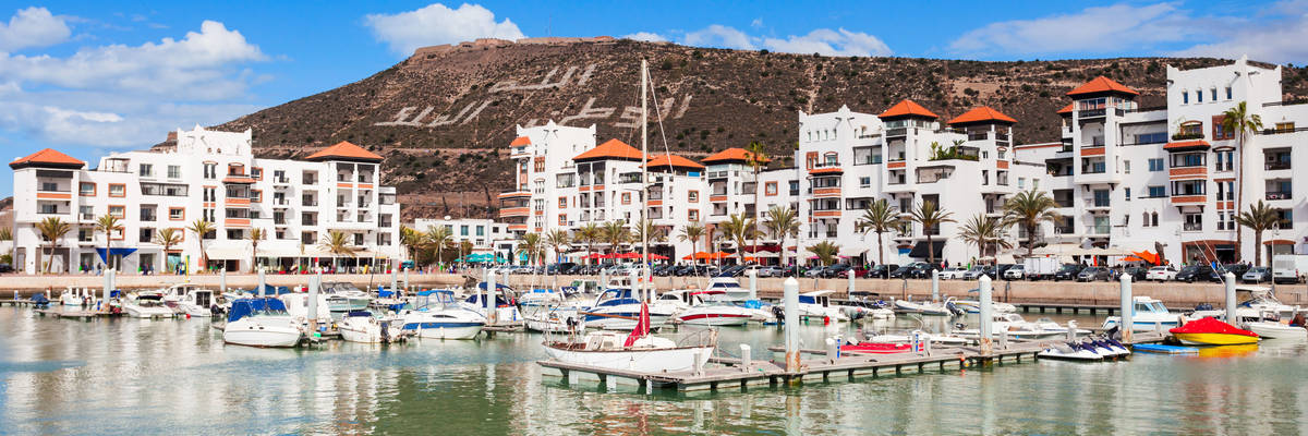 Boats at the Marina harbour in Agadir