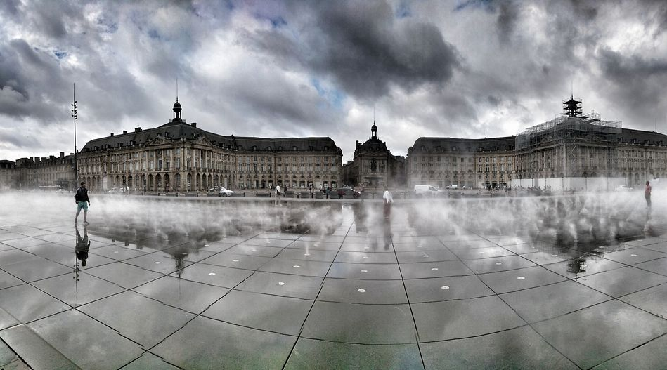 The Miroir d'Eau in Bordeaux