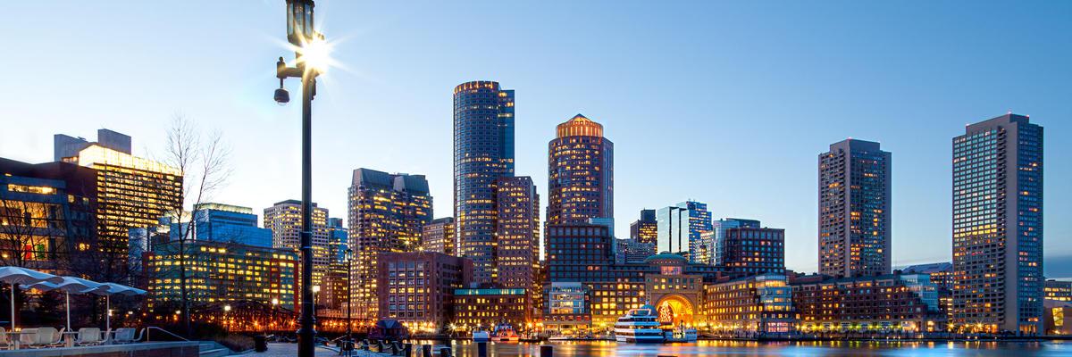 Boston Harbor and Financial District, Boston, Massachusetts