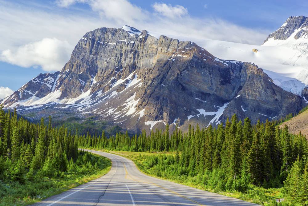 Bow Peak and Icefields Parkway, Banff National Park