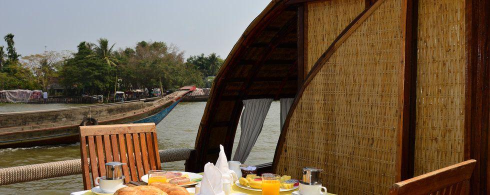 Breakfast, Song Xanh Sampan, Victoria Cruises, Vietnam, Mekong Delta