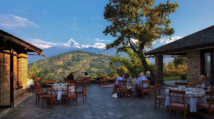 Breakfast on Terrace Rajbansh, Tiger Mountain Pokhara Lodge