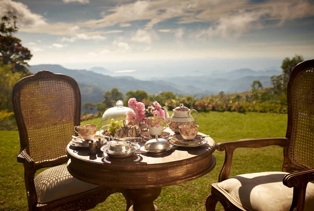 Breakfast on the lawn, Thotalagala, Sri Lanka