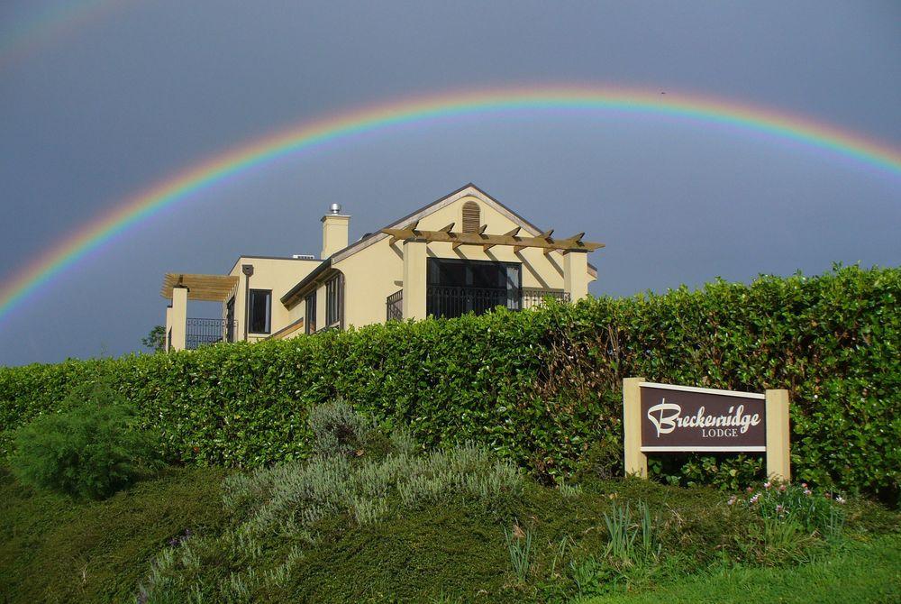 Breckenridge Lodge under a rainbow, New Zealand