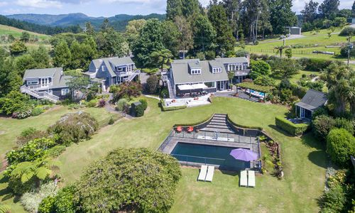 Brenton Lodge aerial view, New Zealand