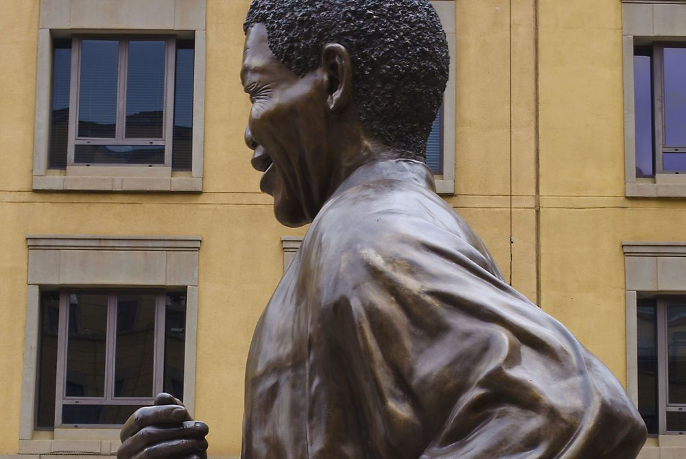 Bronze statue of Nelson Mandela, Johannesburg, South Africa