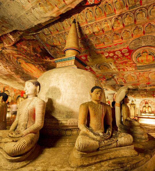 Buddhas, Dambulla Cave Temple, Sri Lanka