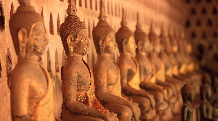 Buddhas, Sisaket, Vientiane, Laos