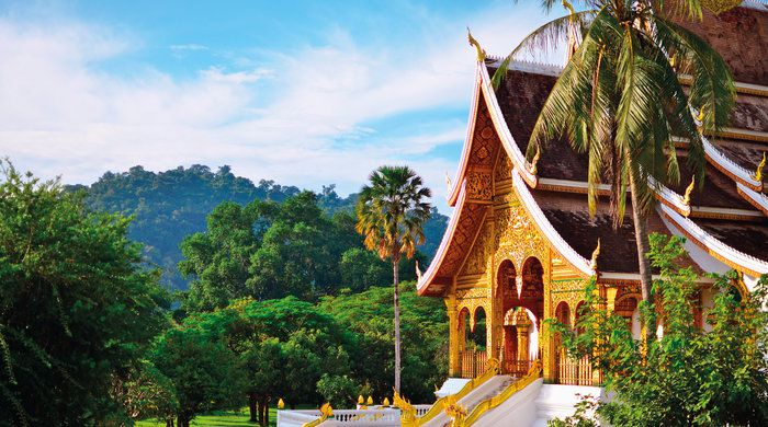 Buddhist Temple, Luang Pabang, Laos