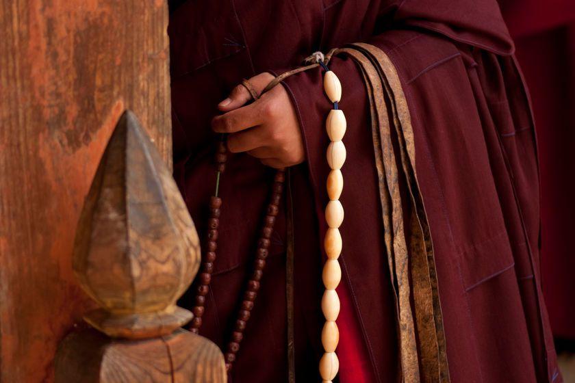 Bumthang Monk, Bhutan, Asia