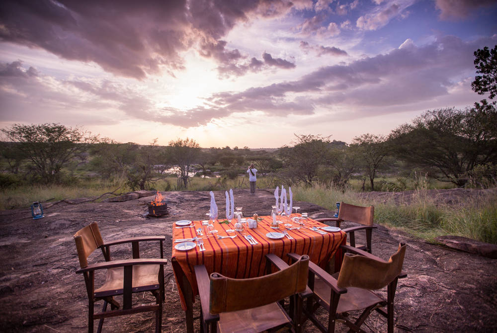 Bush breakfast, Elewana Serengeti Migration Camp