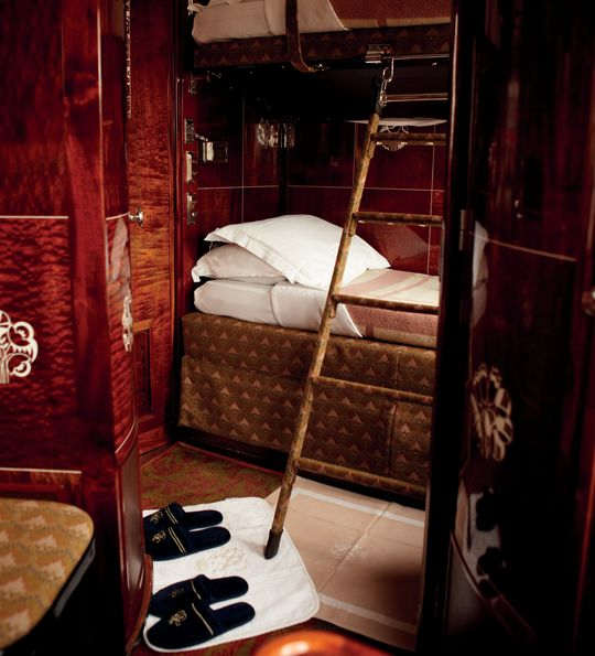 Venice Simplon-Orient-Express Twin cabin by night