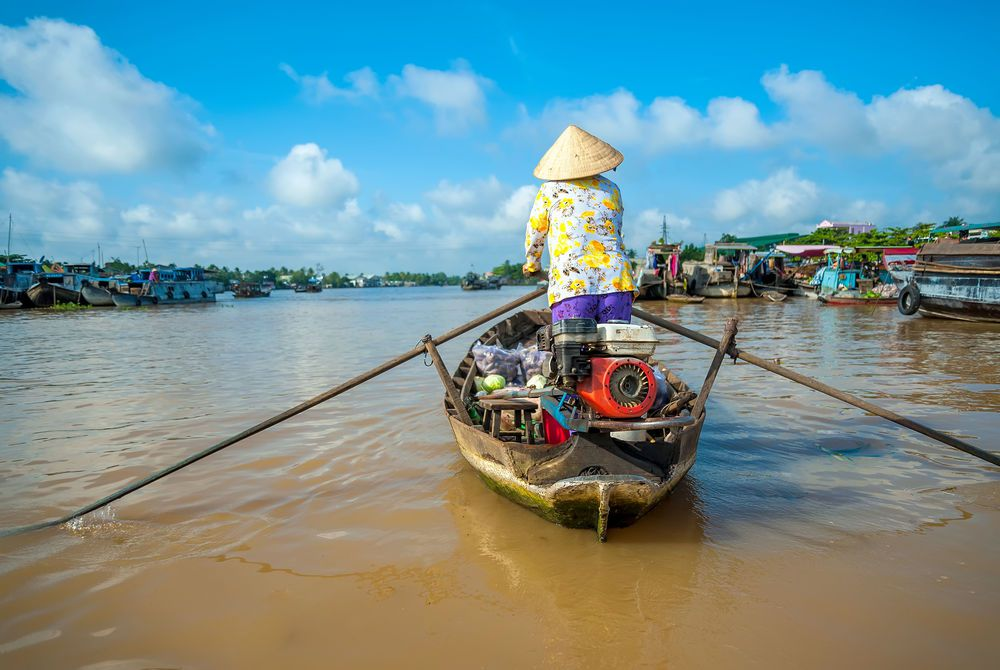 Cai Be Floating Market, Vietnam