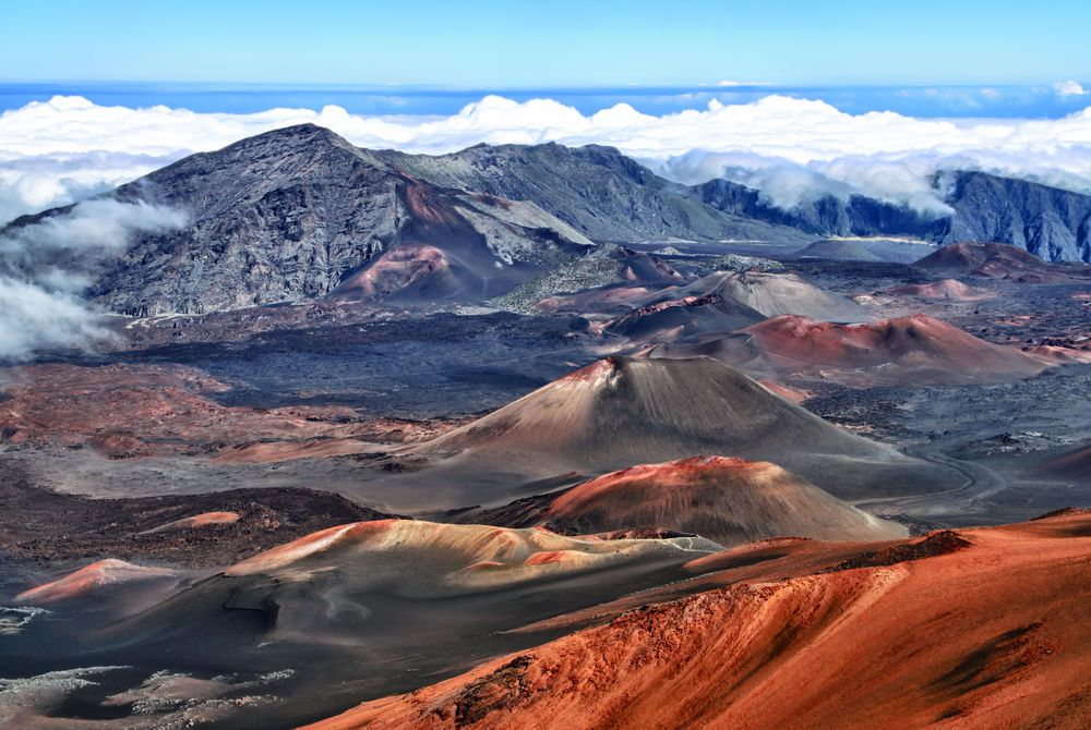 Caldera of the Haleakala volcano, Maui