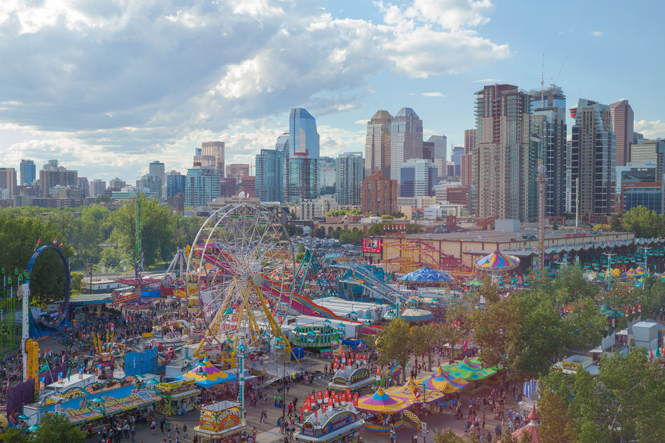 Aerial view of Stampede City