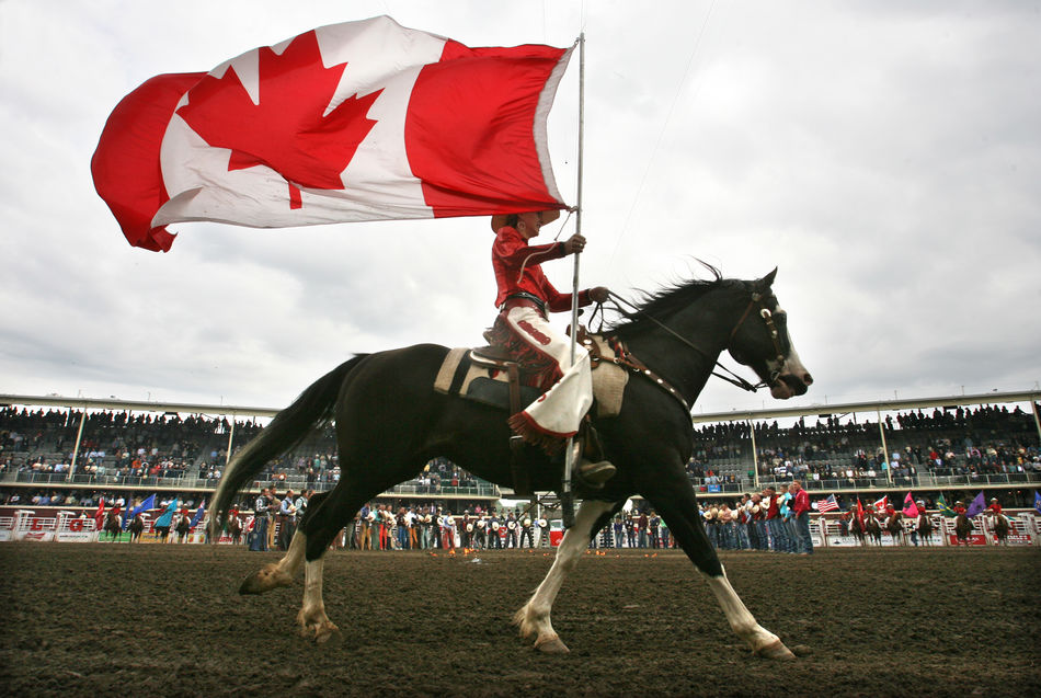 Opening ceremony of the Calgary Stampede in Canada