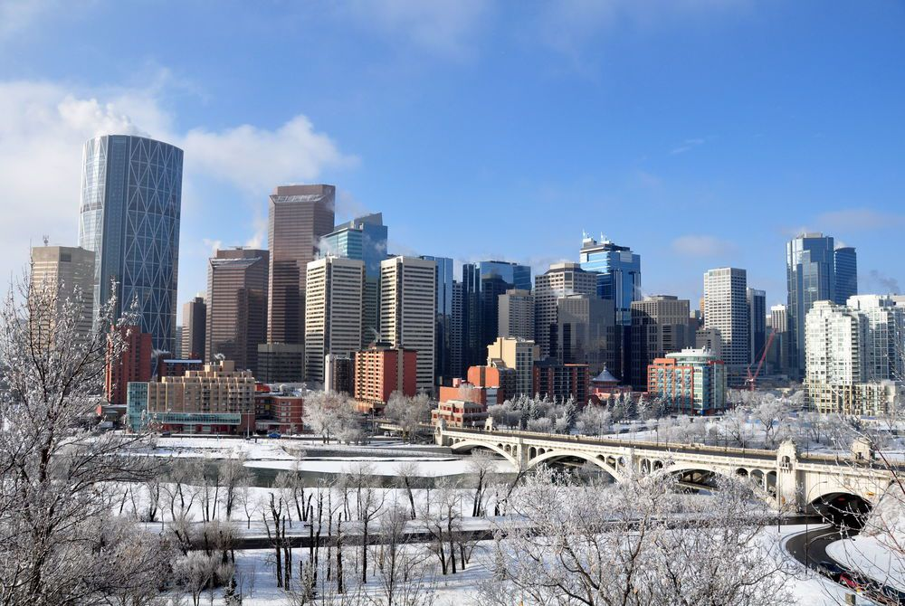Calgary in winter