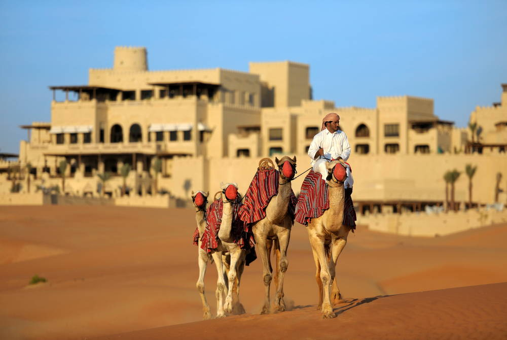 Camel trekking, Anantara Qasr Al Sarab