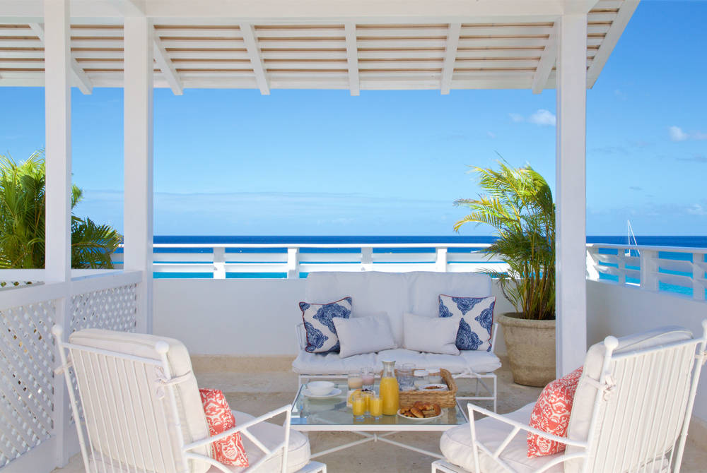Camelot rooftop breakfast, Cobblers Cove, Barbados