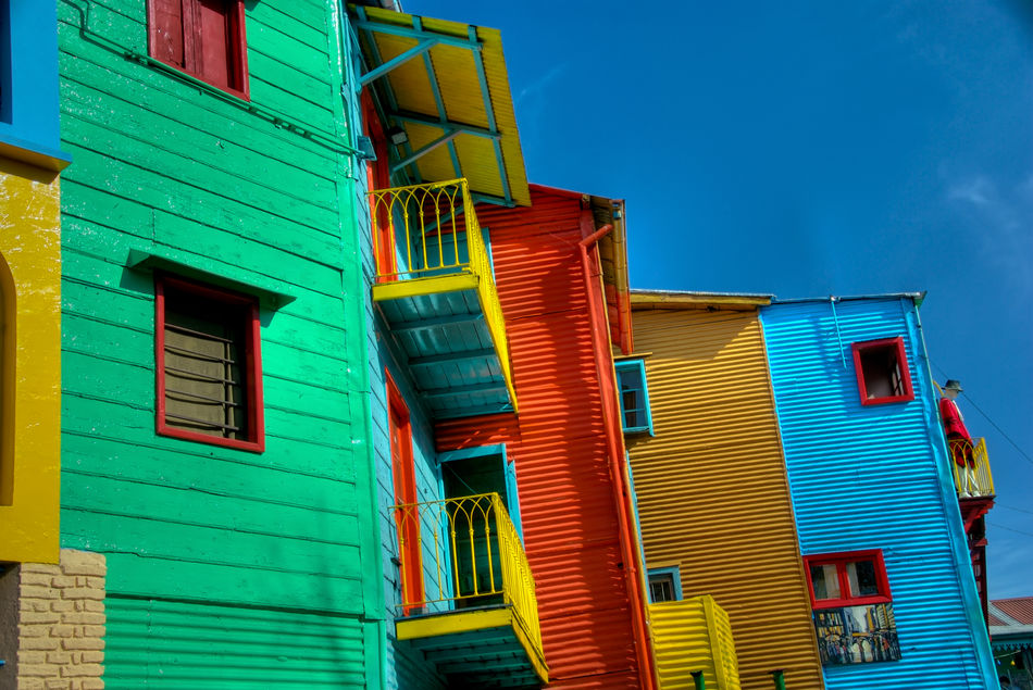 Colourful Houses on Buenos Aires' Caminito Street