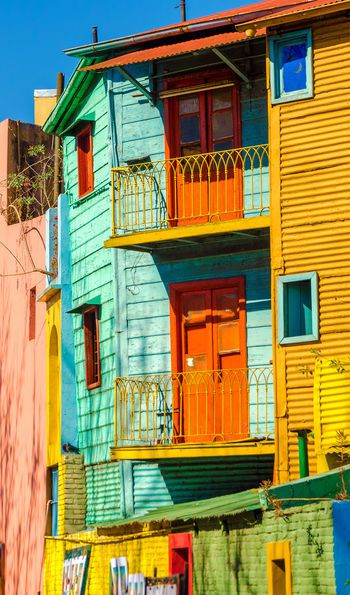 Caminito street in La Boca neighbourhood, Buenos Aires, Argentina