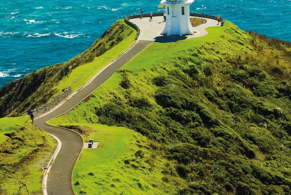 Cape Reinga Lighthouse, in the near of Bay of Islands