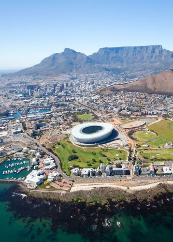 Aerial view of Cape Town in South Africa