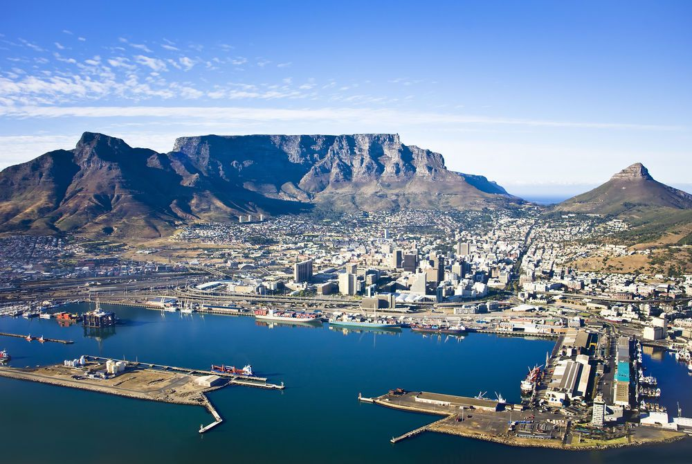 Cape Town and Table Mountain, South Africa