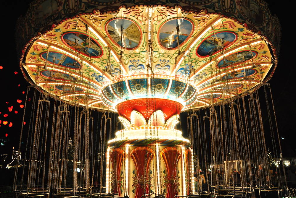 Carousel at Tivoli Gardens Christmas Market, Copenhagen