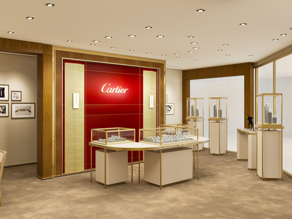 The Cartier shop on Celebrity Edge