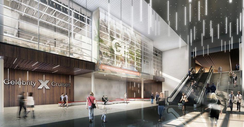 Celebrity Edge Terminal - Lobby area