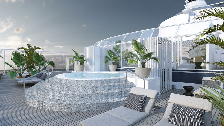 The Retreat Sundeck, designed by Kelly Hoppen, MBE