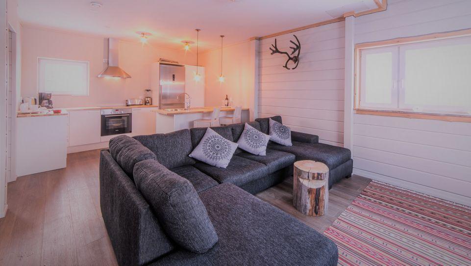 Chalet Sitting Room & Kitchen