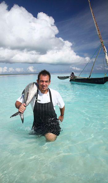 Fishing off Zanzibar's Mnemba Island