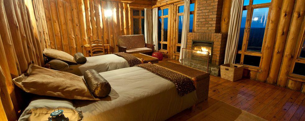 Chalet Interior, Chelinda Lodge, Nyika National Park, Malawi