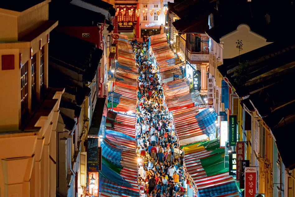 Singapore's Chinatown at New Year