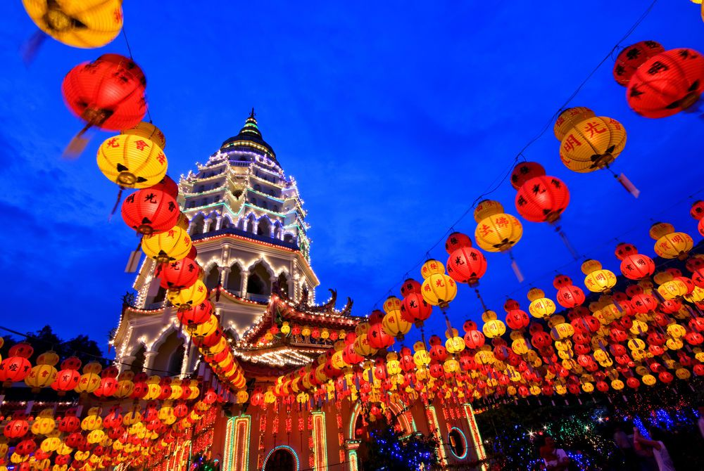 Chinese New Year Decoration at Kek Lok Si Temple, Penang