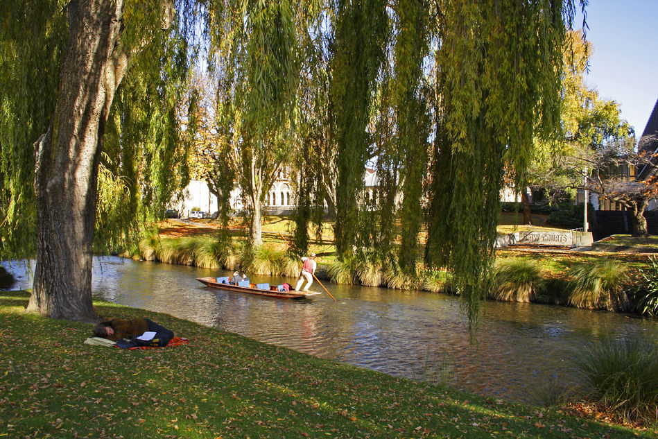 Punting on the River Avon, Christchurch