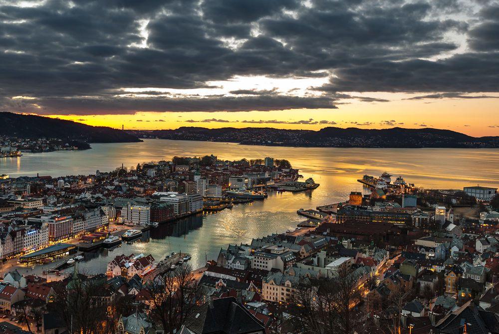 City Center, Bergen, Norway