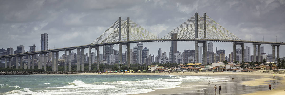 City of Natal beach, Brazil