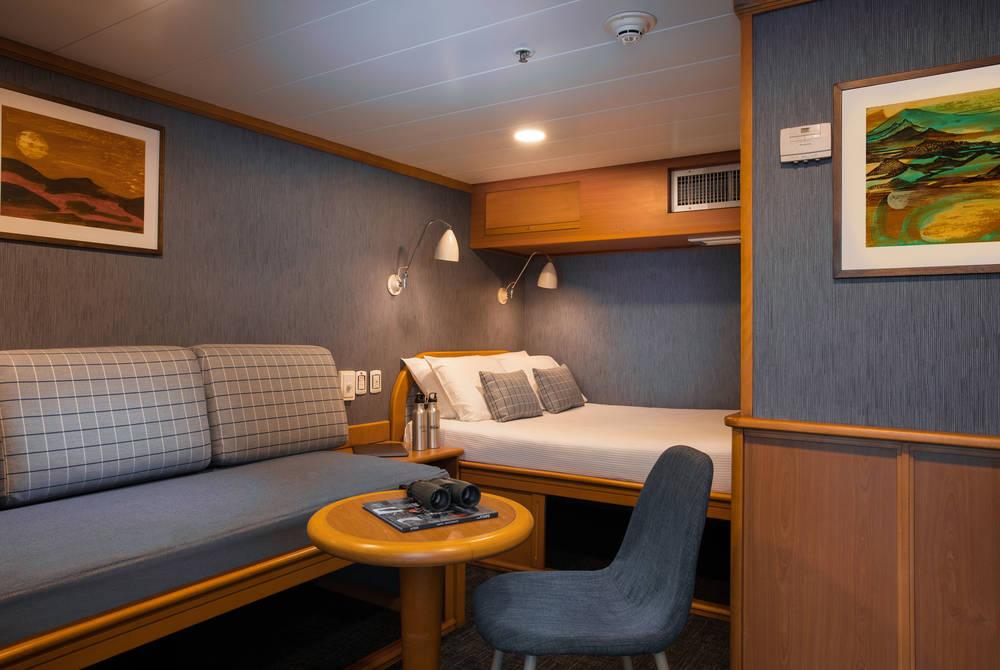 Classic cabin, Isabela II Yacht, Galapagos