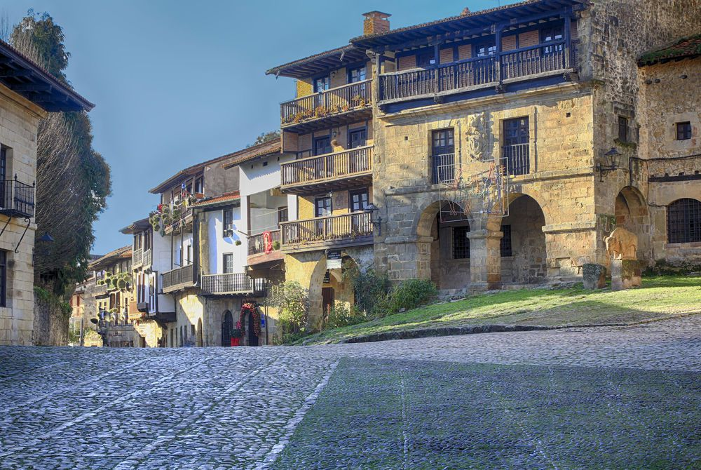 Cobbled streets in Santillana del Mar