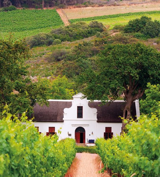Colonial Dutch Farmhouse in Winelands in South Africa