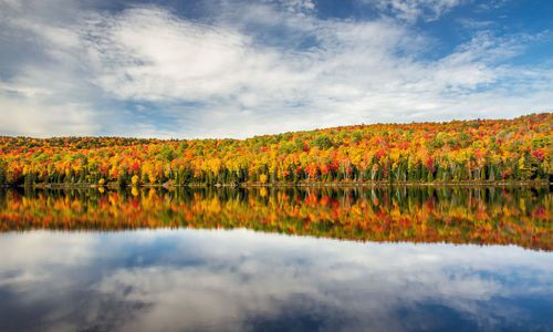 Colorful Autumn landscape, Quebec, Canada