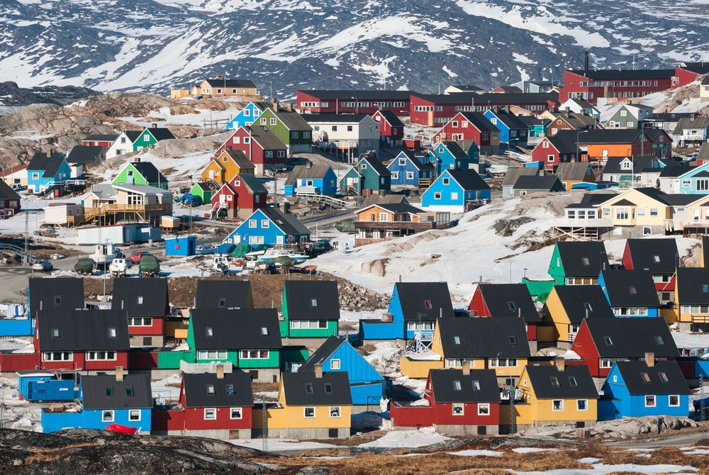 Colourful houses, Ilulissat, Greenland
