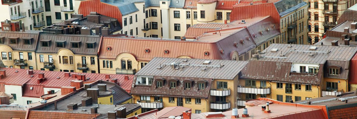 Colorful roofs, Gothenburg, Sweden
